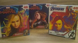 Avengers Marvel Captain Marvel 48 Piece Jigsaw Puzzles Lot of 3 Brand Ne... - $15.79