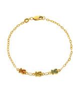 """Auth TOUS Yellew Gold  Enamel Bear Sweet Dolls Bracelet Size 7"""" »U216 - $386.95"""