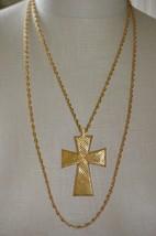 CROWN TRIFARI Modernist Crucifix Cross Choker Necklace Vintage Rare - $74.25