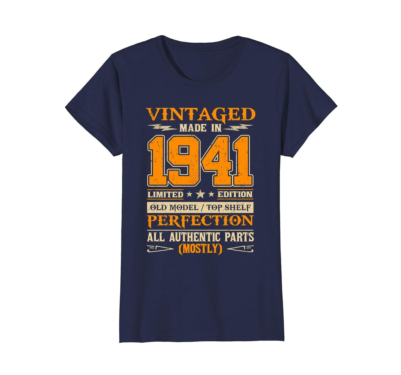 Funny Shirts - Legends Vintage Made In 1941 77th Birthday Gift 77 years old Wowe image 4