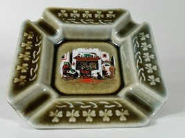 Vintage Olive Green Irish Porcelain Ashtray wit... - $11.87
