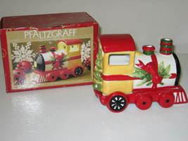 Pfaltzgraff Christmas Heritage Pierced Lighting Train Tea Light Candle Holder - $24.99