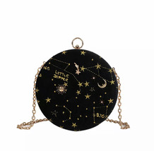 Space Round Handbag woman circle shoulder bag evening shoulder bag cross... - $39.00