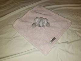 Blankets and beyond pink Gray plush fleece baby girl elephant nunu - $29.69
