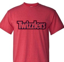 Twizzlers Logo T-shirt retro 80s candy logo Heather Red distressed 50/50 tee image 1