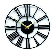 30cm New Modern Metal Wall Clock Open Face Roman Numerals Home Decor Altair - $55.00