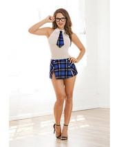 2 PIECE SCHOOL GIRL COSTUME CHEMISE SET SIZES REGULAR & QUEEN - $25.64+
