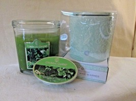 Colonial Candle Box Green Electric Wax Warmer & 8 oz Jar-LEMONGRASS & CI... - $36.00