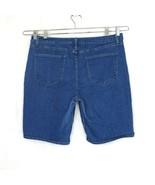 Riders by Lee Mid Rise Bermuda Denim Shorts Women Size 18 Medium Wash Zi... - $14.84