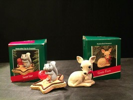 Hallmark Handcrafted Ornaments AA-191774D Collectible  ( 2 pieces ) - $39.95
