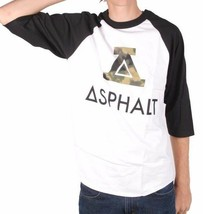 Asphalt Yacht Club Men's Black & White Sky High Tie Dye Green A Raglan Shirt NWT