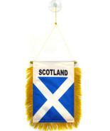 "Scotland Cross Mini Flag 4""x6"" Window Banner w/ suction cup - $16.00"
