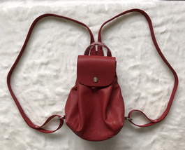 Longchamp LE PLIAGE Cuir Backpack XS WINE RED AUTH - $299.00