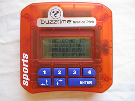 Buzztime Head-On Challenge SPORTS Wireless by Cacacor Hand Held Game Trivia  - $10.88