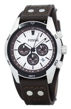 Fossil Cuff Chronograph Tan Leather Ch2565 Men's Watch - $139.50