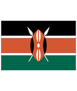 Kenya Flag vinyl sticker 120mm x 80mm car decals window bumper Africa Ke... - $2.91+