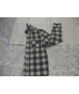 Gray and White Checkered Long Sleeve shirt 9-10 yrs old - $19.99