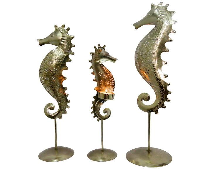Set of 3 Sea Horses  s Indian Traditional Handmade Art.