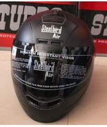 STEEL BIRD AIR HEAD PROTECTIVE BIKE HELMET MATT BLACK FULL FACED COVER H... - $61.34