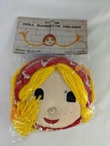 Vintage Doll Barrette Holder Plush Sealed Stuffed Animal Toy - $19.95