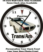 1970-1972 PONTIAC FIREBIRD TRANS /AM WALL CLOCK-FREE USA SHIP! - $28.70+