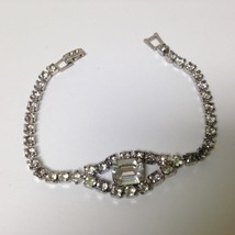 Vintage, 7in  Long Rhinestone Bracelet - $14.20