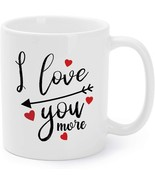 Mother's Day Gift Mugs Funny I Love You More Ceramic Coffee Mugs - $15.95