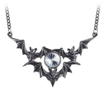 Alchemy P852 Phantom Necklace Gothic Pendant England White Swarovski Cry... - $37.57