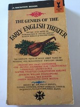 The Genius of the Early English Theater,Mentor Books,1962,essays -plays,... - $3.95