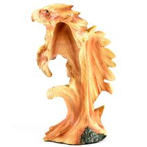 Faux Wood Western Native American Indian with Eagle Bust Resin Figurine image 3