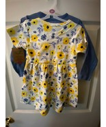 Touched By Nature 3T Organic Cotton Dress & Cardigan Set *NEW* ff1 - $11.99