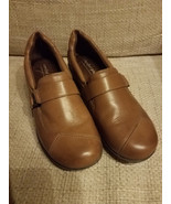 WOMENS COMFORT PLUS by PREDICTIONS LEATHER LOAFER SHOES SIZE 8 U.S - $28.98