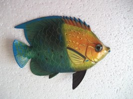 Tropical Fish Wall Plaque Tiki Bar Beach Pool Nautical Decor Size 6 inch... - €7,04 EUR
