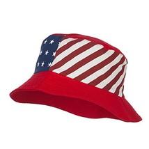 Reversible American Flag Bucket Hat - Red OSFM - $23.35