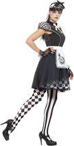 Women's Gothic Alice In Wonderland Costume image 2