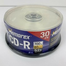 Memorex CD-R 30 Pk Sealed 700 MB 80 Min 52x Multi Speed - $15.88