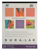 Grafix Clear 0.005 Dura-Lar Film, 19-Inch by 24-Inch, 25 Sheets - $48.12