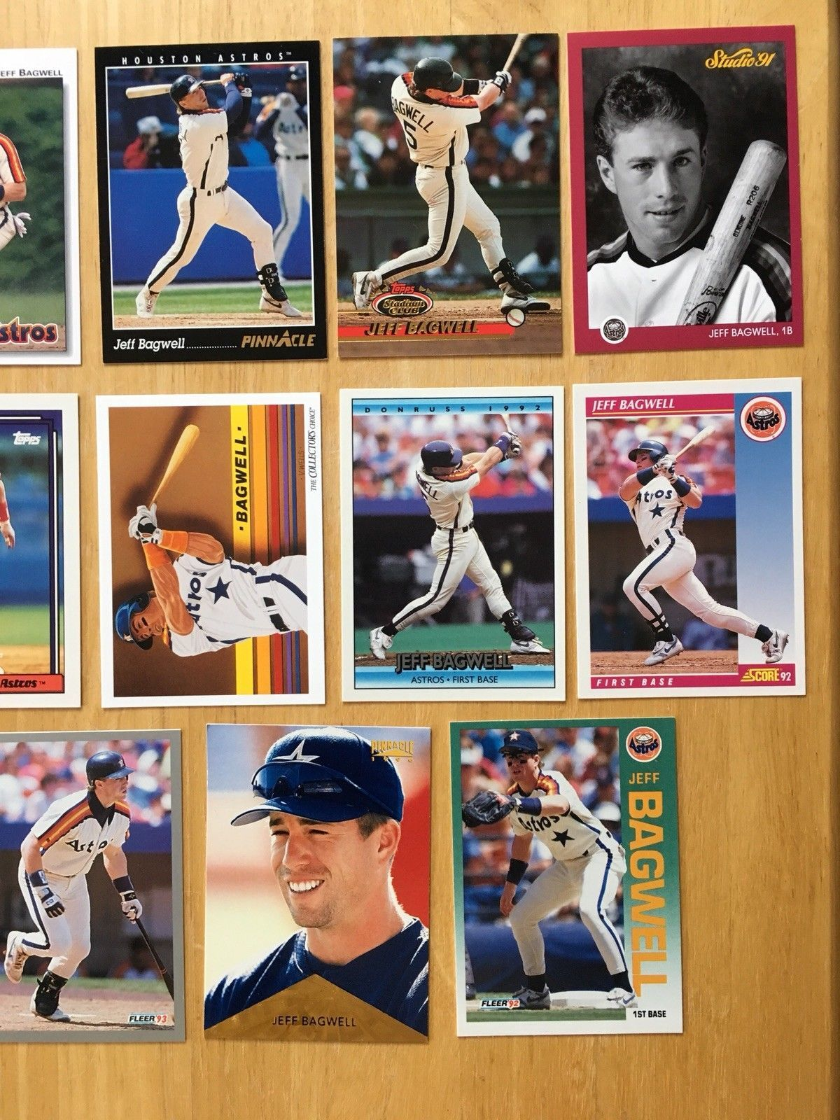 Jeff Bagwell 14 Baseball Card Lot NM/M Condition Houston Astros Topps image 3