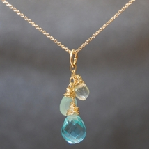 Necklace 1-29 - choice of stone - Silver image 2