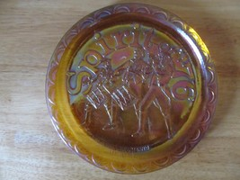 Vintage Amber Carnival Glass Spirit of '76 Commemorative Plate~Indiana G... - $9.31