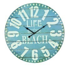 Large Hanging Wall Clock Life Is Better At The Beach House Decor Home De... - $909,47 MXN