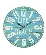 Large Hanging Wall Clock Life Is Better At The Beach House Decor Home De... - ₨3,076.29 INR