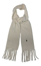 Ralph Lauren Womens Wool Blend Winter Scarf Guide Cream (Cream) - $97.33
