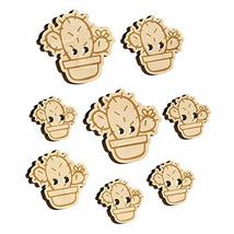 Hand Drawn Prickly Pear Cactus Doodle Wood Buttons for Sewing Knitting C... - $9.99