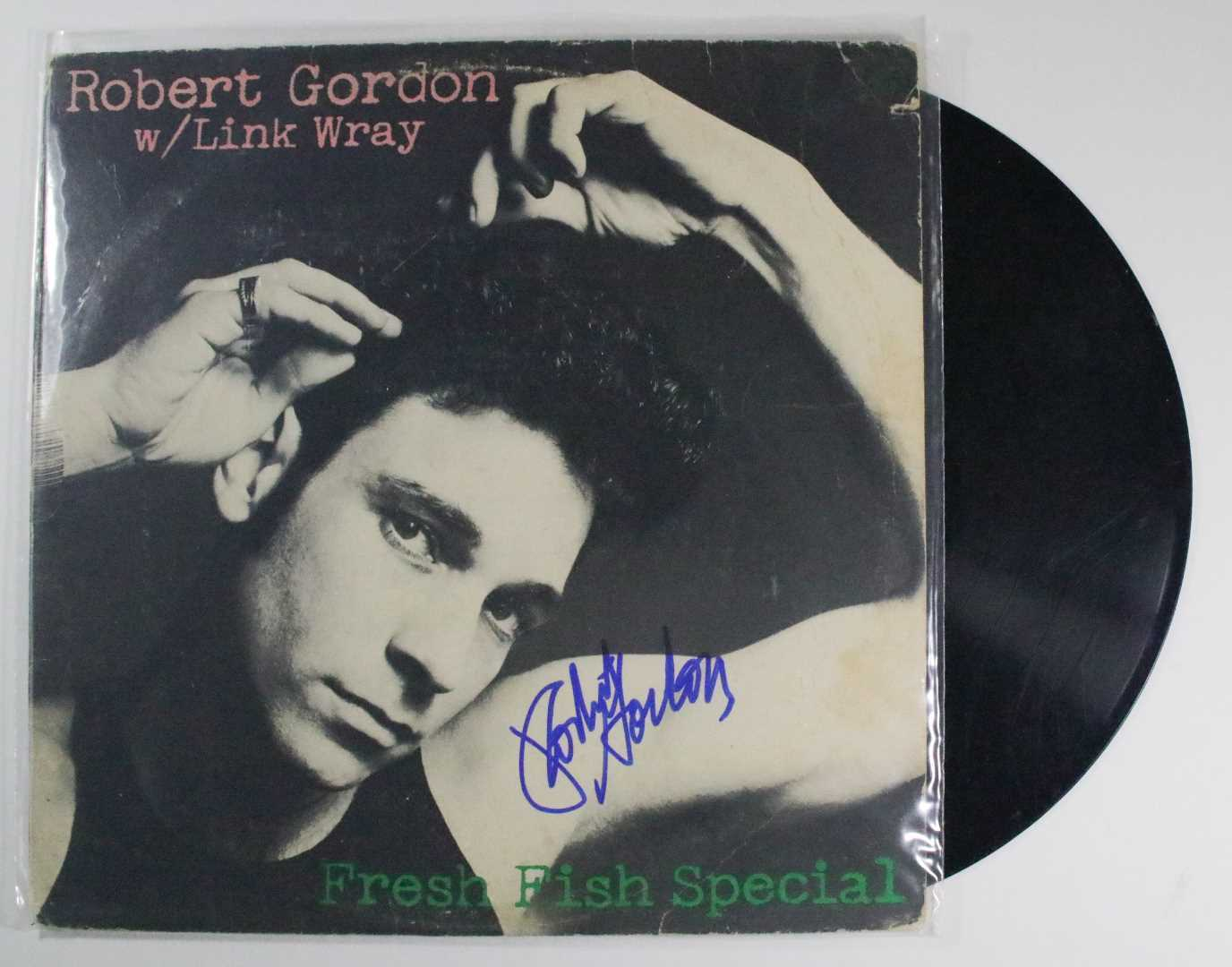 "Primary image for Robert Gordon Signed Autographed ""Fresh Fish Special"" Record Album"
