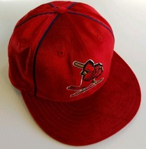 St. Louis Cardinals MLB Cooperstown Collection Fitted Hat Mens 7 Red Vel... - $29.58