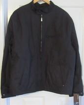 Perry Ellis Men's Jacket Blue L/G Solid Black Fullsleeve Polyester Zip Close New - $119.90