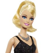 Barbie Fashionista Party Glam Barbie Doll, Pink and Black Dress - $24.43