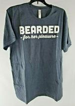 Bearded For Her Pleasure men's heather blue t-shirt size L - $16.99