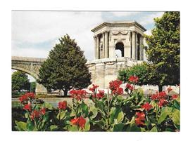 France Montpellier Chateau D'Eau du Peyrou Garden Vintage YVON 4X6 Postcard - $5.95